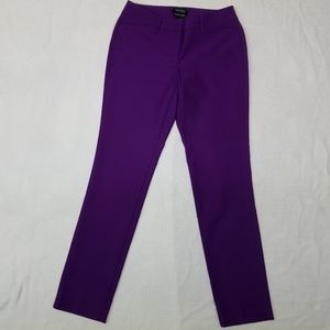 White House Black Market Purple Dress Trousers